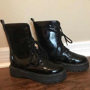 Shoes - Black Platform Doc Marten dupes